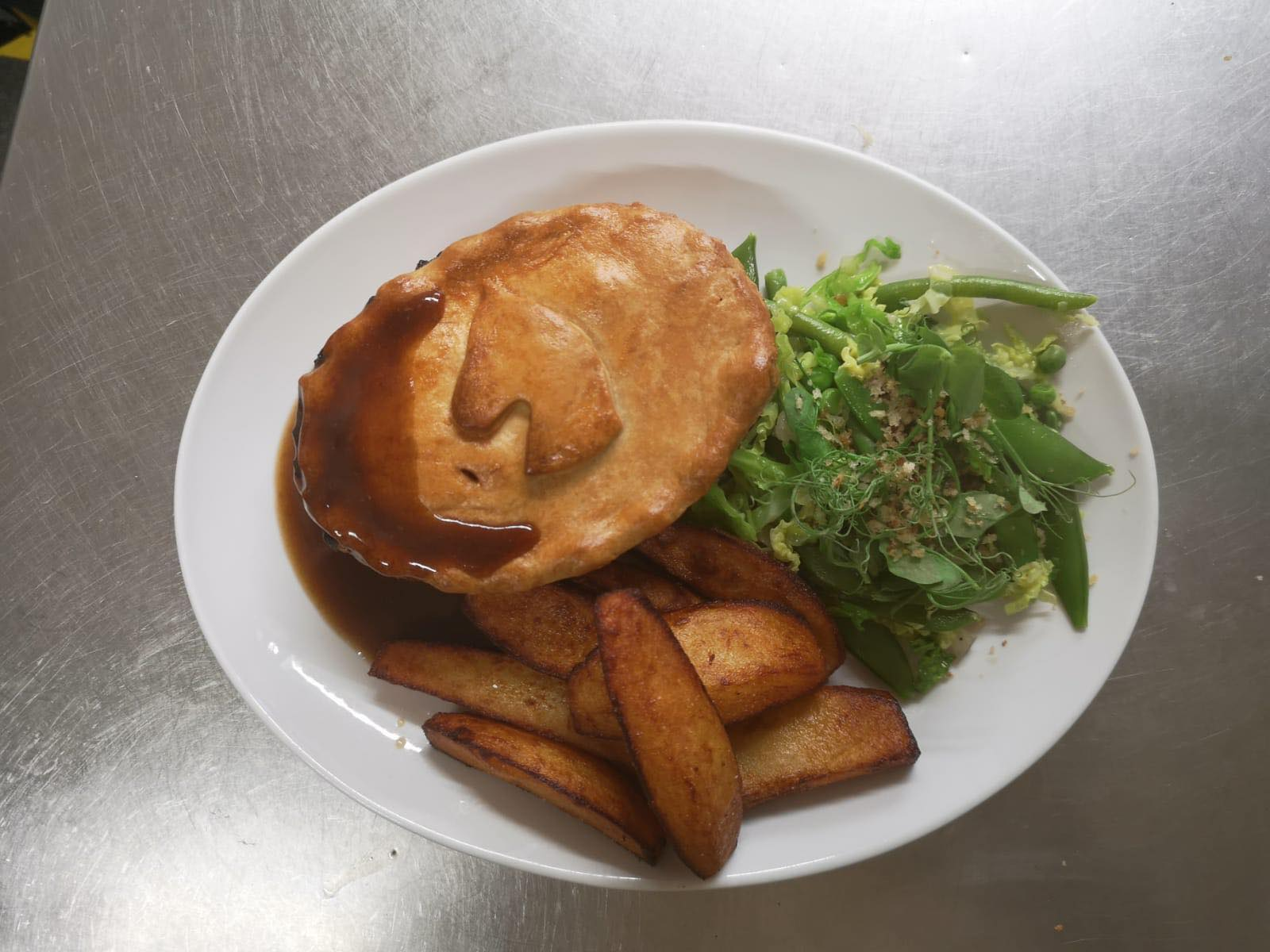 Homemade Pie and Hand Cut Chips